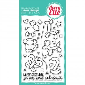 Avery Elle Clear Stamps - More Party Animals