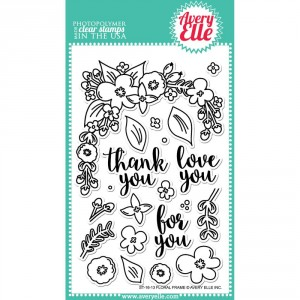 Avery Elle Clear Stamps - Floral Frame