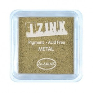 Aladine Izink Pigment-Stempelkissen Midi Metal Gold