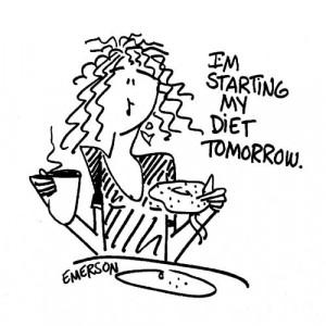 American Art Stamp - Start my diet