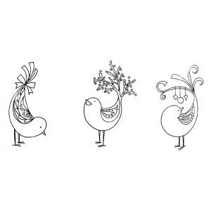 American Art Stamp - 3 Bird Set