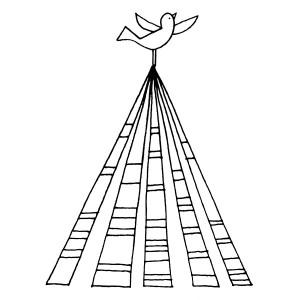 American Art Stamp - Bird on Tree