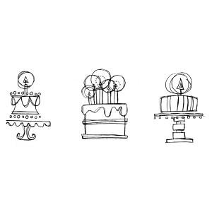 American Art Stamp - 3 Cake Set