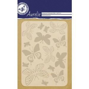 Aurelie Hintergrund-Prägeschablone - Butterfly Memories
