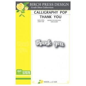 Birch Press Stanzschablone - Calligraphy Pop Thank You - 45% RABATT