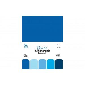Paper Accents Cardstock Stash Pack 40 Blatt - Blues