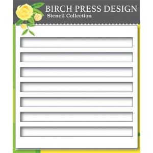 Birch Press Template - Bold Stripes Stencil