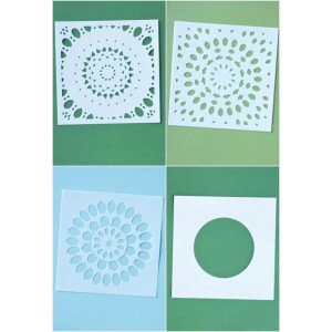 Birch Press Template Set - Thankful Mandala Stencil Set