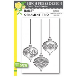 Birch Press Stanzschablone - Bailey Ornament Trio