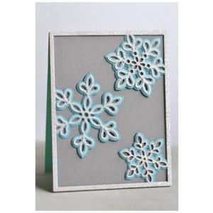 Birch Press Stanzschablonen-Set - Shimmer Snowflake Frame Layer Set