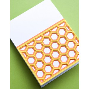 Birch Press Stanzschablone - Honeycomb Bevel Plate Layer Set