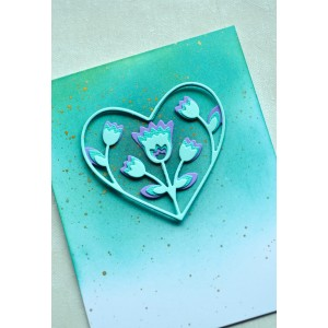 Birch Press Stanzschablone - Folk Art Heart Layer Set