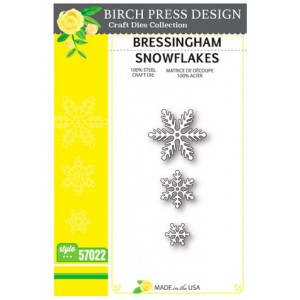 Birch Press Stanzschablone - Bressingham Snowflakes