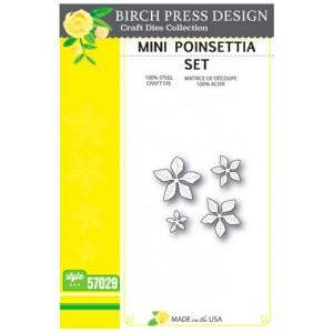 Birch Press Stanzschablone - Mini Poinsettia Set
