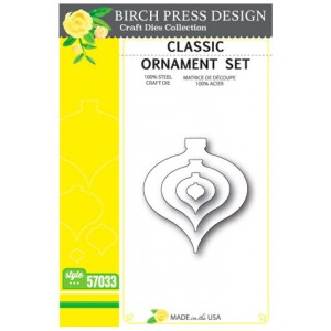 Birch Press Stanzschablone - Classic Ornament Set