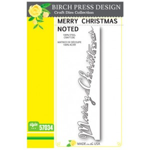 Birch Press Stanzschablone - Merry Christmas Noted