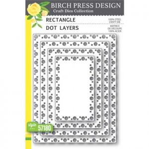 Birch Press Stanzschablone - Rectangle Dot Layers