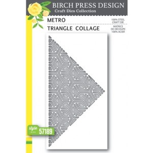 Birch Press Stanzschablone - Metro Triangle Collage