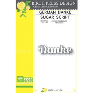 Birch Press Stanzschablone - Danke Sugar Script
