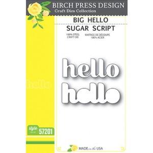 Birch Press Stanzschablone - Big Hello Sugar Script