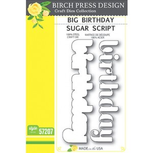 Birch Press Stanzschablone - Big Birthday Sugar Script