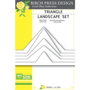Birch Press Stanzschablone - Triangle Landscape Set - 35% RABATT