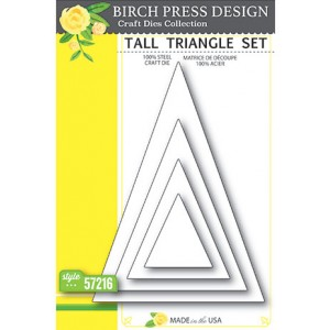 Birch Press Stanzschablone - Tall Triangle Set