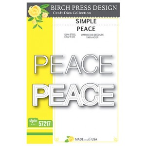Birch Press Stanzschablone - Simple Peace