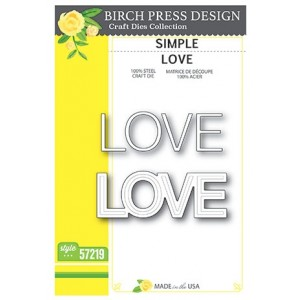 Birch Press Stanzschablone - Simple Love