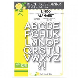 Birch Press Stanzschablone - Lingo Alphabet
