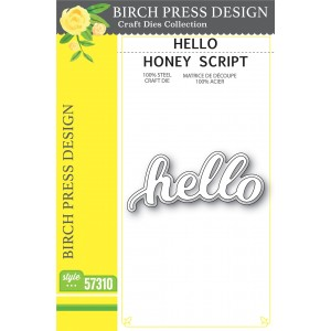 Birch Press Stanzschablone - Hello Honey Script