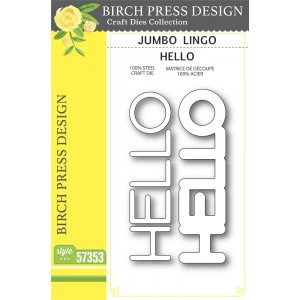Birch Press Stanzschablone - Jumbo Lingo Hello