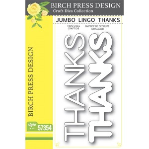 Birch Press Stanzschablone - Jumbo Lingo Thanks
