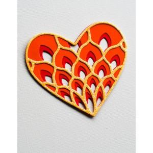 Birch Press Stanzschablone - Petal Heart Layer Set