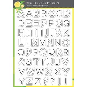 Birch Press Clear Stamps - Mod Alphabet