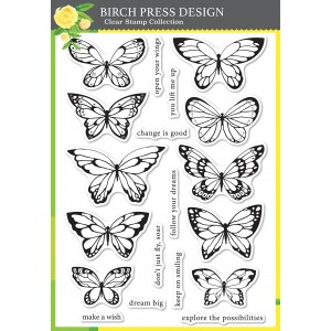 Birch Press Clear Stamps - Lovely Butterflies