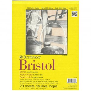 "Strathmore Bristol Smooth Paper Pad 9""X12"""