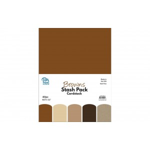 Paper Accents Stash Pack 40 Blatt - Browns