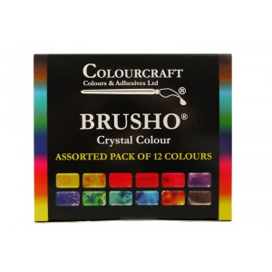 Brusho Crystal Colour Farb-Pigmente Starter Pack - 12 Farben