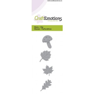 CraftEmotions Stanzschablone - Blätter & Pilze