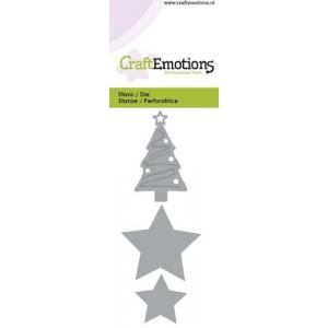 CraftEmotions Stanzschablone - Weihnachtsbaum & Sterne