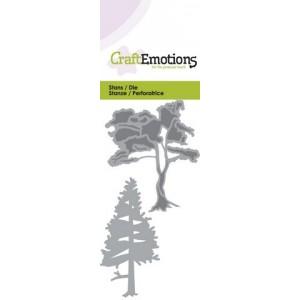 CraftEmotions Stanzschablone - Bäume 1