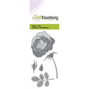 CraftEmotions Stanzschablone - Rose