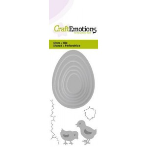 CraftEmotions Stanzschablone - Eier und Küken