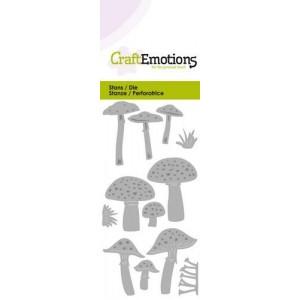 CraftEmotions Stanzschablone - Pilze im Wald