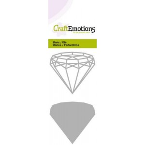 CraftEmotions Stanzschablone - Drahtform Diamant