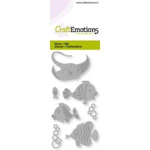 CraftEmotions Stanzschablone - Tropische Fische