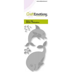 CraftEmotions Stanzschablone - Delphin und Wal