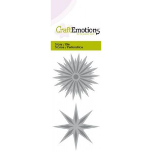 CraftEmotions Stanzschablone - Star Fantasy