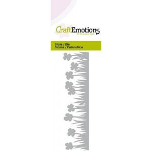 CraftEmotions Stanzschablone - Grasrand Klee